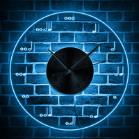 Musical Notation Wall Clock with LED illumination Musical Notes Lighted Modern Wall Clock Treble Clef Neon Sign Music Room Decor