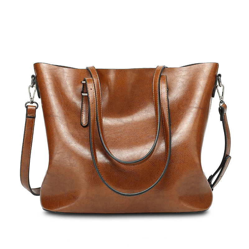 women leather handbags Casual Tote luxury handbags women bags designer ladies Shoulder cheap leather handbag brown color ME753