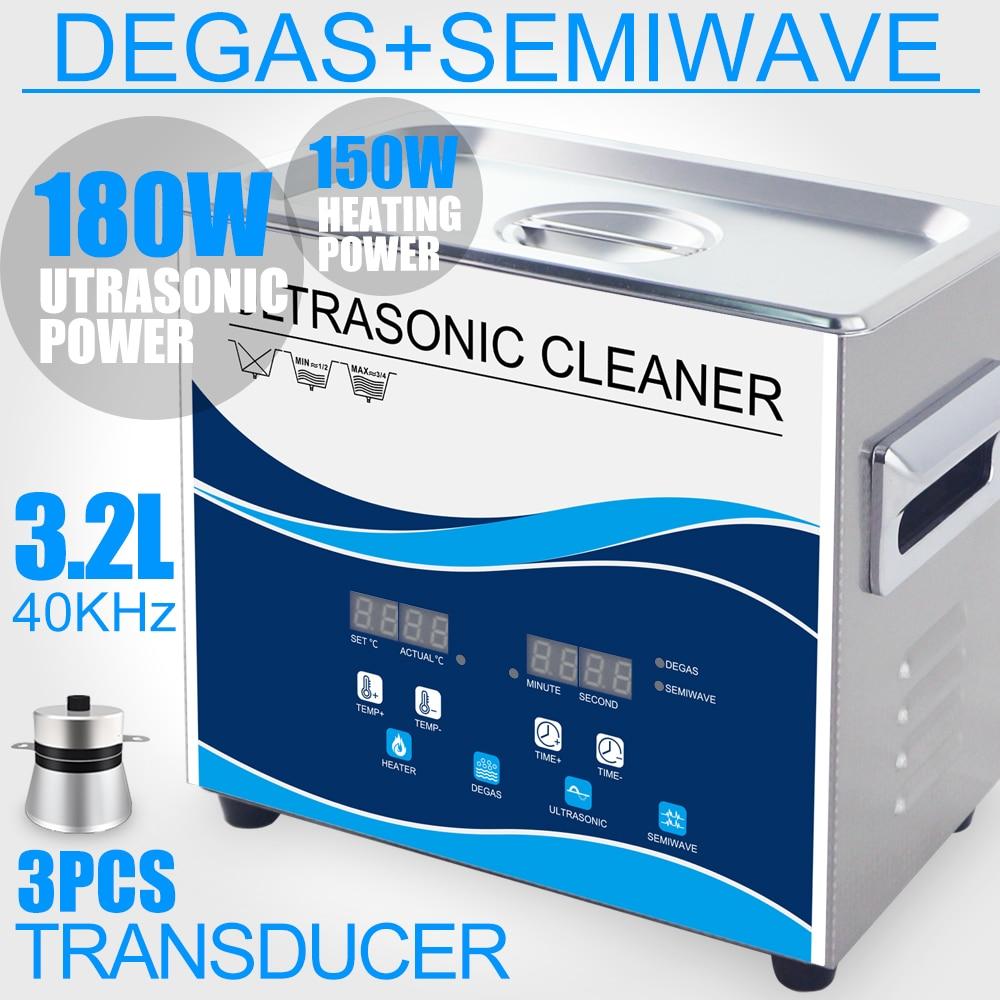 קנו מכשירי חשמל ביתיים | Ultrasonic Cleaner 180W 3 2L Stainless Bath