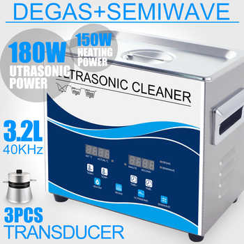 180W Ultrasonic Cleaner 3.2L Stainless Bath Degas Household Wash Jewelry Circuit Board Hardware Parts Piston Dental Instrument - DISCOUNT ITEM  35% OFF All Category