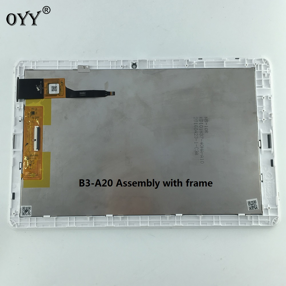 KD101N37-40NA-A10 LCD display screen touch screen Digitizer Assembly with frame 10.1'' inch for ACER Iconia One 10 B3-A20 A5008 10 1 lcd display kd101n37 40na a10 for tablet pc authentic hd 800 1280 lcd internal display screen kd101n42 40na 15