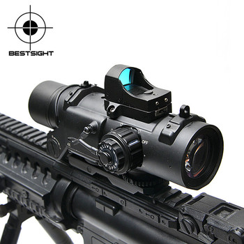 Tactical Rifle Scope DR Quick Detachable 1X-4X Adjustable Dual Role Sight  Airsoft Scope Magnificate Scope For Hunting