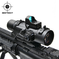 Tactical Rifle Scope DR Quick Detachable 1X 4X Adjustable Dual Role Sight Airsoft Scope Magnificate Scope For Hunting