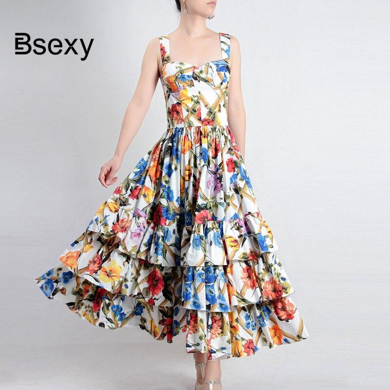 85382b5af21 Summer Women Strapless Floral Dress 2018 Sexy prairie chic flowers Backless  Ruffle Spaghetti Strap Beach Dress Boho Midi Vestido