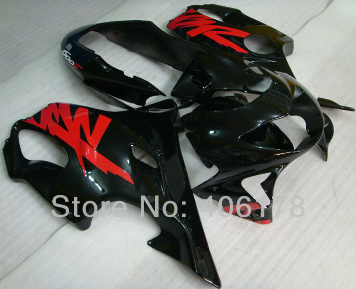 Hot Sales,Fits cbr 600 f4 fairing kit For Honda CBR600F4 1999-2000 Black Motorcycle Fairings (Injection molding) hot sales black frosted style motorcycle