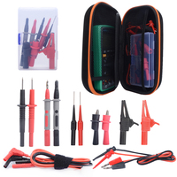 4mm silicone cable 15 in 1 Super Probe Test Lead Kit with Alligator Clips , Replaceable test hook With Multimeter carry case