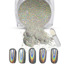 1g/Box nails dip powder Shiny Laser Rainbow Nails Glitter nail Dust Chrome Manicure Pigments Nails Art Decorations