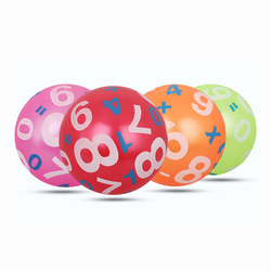 23cm kids sports inflatable toy balls digital colour learning plastic pvc ball children baby gifts girl.jpg 250x250