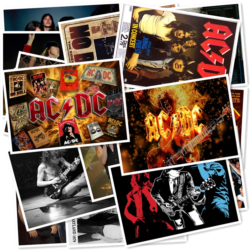 B1-1#  ACDC Classic Series Sticker 20/pcs PVC Art Crafts Collection Gift Wall Design Sticker Graffiti Stickers