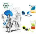 Nuevo Paraguas De Silicona Bolsa de Té de Hoja de Té Colador de Hierbas Especias Infusor Filtro Difusor Filtro Holder Loose Regalo Herramienta de la Cocina