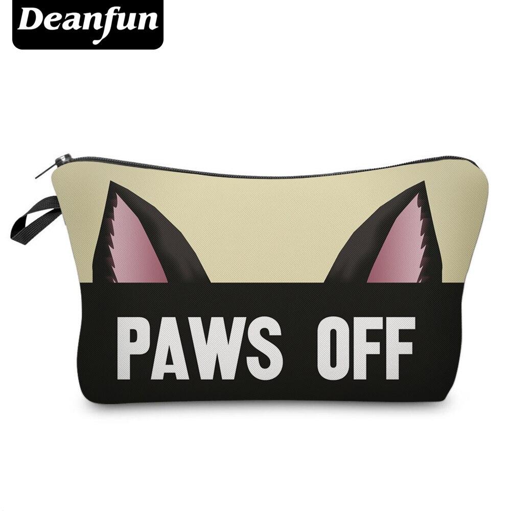 Deanfun 3D Printed Cat Ear Letter Necessaries For Girls Cosmetic Travel Organizer Zipper Makeup Bags 50953 #