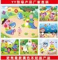20 packyoung дети EVA 3D DIY делая игрушки наклейки наклейки трехмерные наклейки мультфильм вставить игрушки детский сад