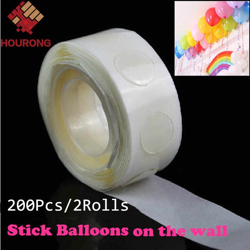 2 Rolls 200 Dot Special Double-Sided Adhesive Tape Balloon Stickers Attachment Balloon Glue Roller Party Wedding Decoration
