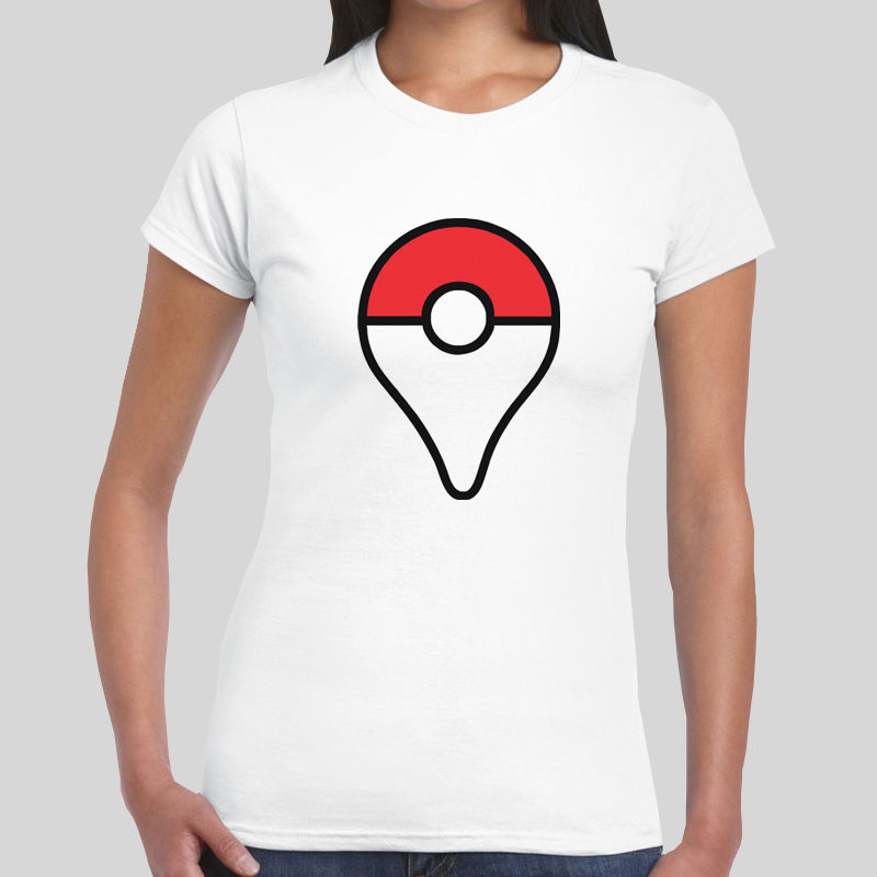 Pokemon Go Map Marker Logo App Game Girls Womens T-Shirt Top Girls Tee Summer New Custom Print Casual O-Neck Top Tee