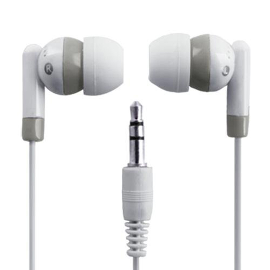 2016 Wholesale 3.5mm Mini In-Ear Earbud Good Quality Headphone Earphone For All Mobile Phone MP3 Player White