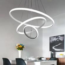 LED Round Pendant Ceiling Light Modern For Living Room Dining Room Circle Rings Acrylic Aluminum Body LED Ceiling Lamp Fixture modern pendant lights for living room dining room circle rings 3 rings 4 rings acrylic aluminum body led ceiling lamp fixtures