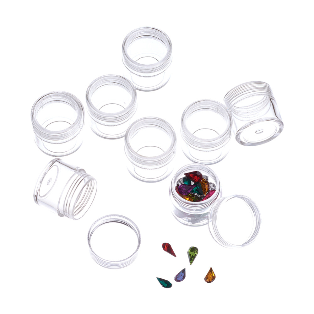 Pandahall 40pcs Beads Containers Jewelry Box Clear Plastic Box Beads Organizers Assorted Bottle for Diamond Painting Storage