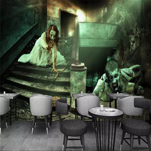 Custom mural 3D stereo mystery zombie bar KTV background wallpaper mural wallpaper
