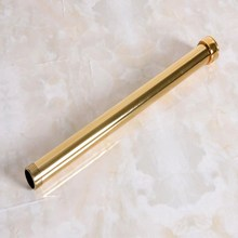 """Bathroom accessory Gold Color Brass 320mm Extension Tube Pipe Rod Set For Rain Shower Faucet Set (G3/4"""" connection) aba703"""