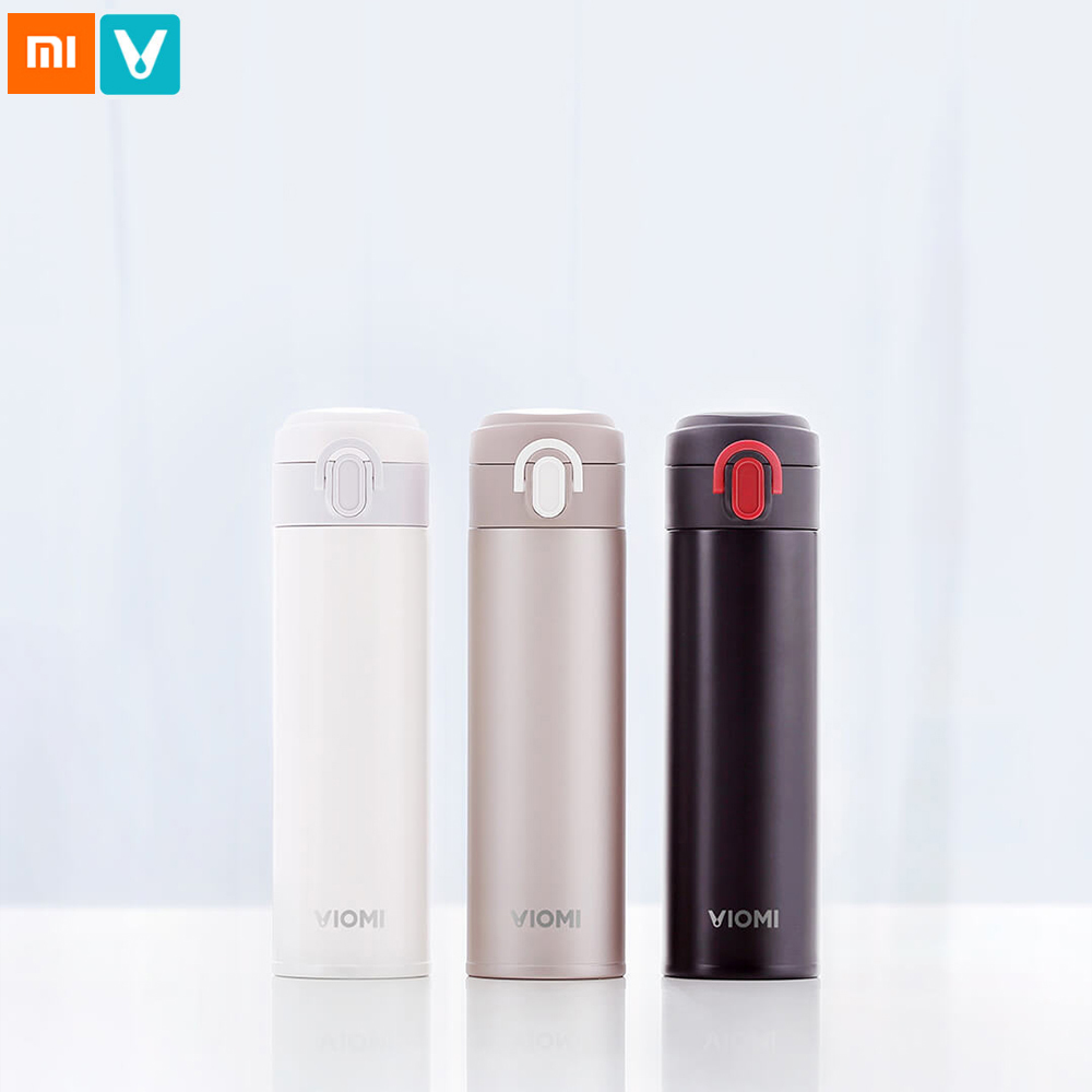 Original Xiaomi VIOMI Vacuum Thermos 316 Stainless Steel Cup 24 Hours Flask Water Bottle Cup 300ML Portable Single Hand ON Close creative fashion portable stainless steel vacuum cup