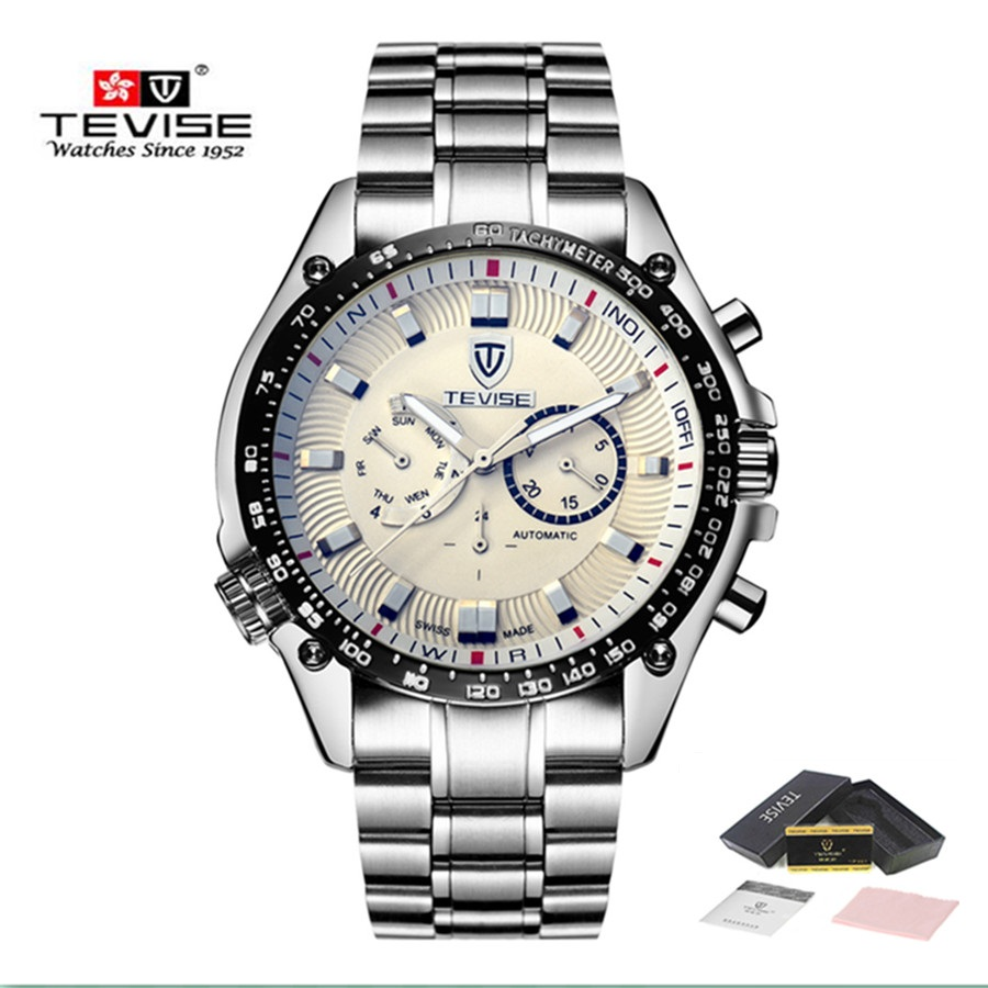 Reloj TEVISE New Luxury Automatic Mechanical Watches Men Sport Waterproof Clock Stainless Steel Bracelet Watch heren horloge блуза mango блуза