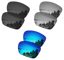 SmartVLT 3 Pairs Polarized Sunglasses Replacement Lenses for Oakley Twoface XL Stealth Black and Silver Titanium and Ice Blue
