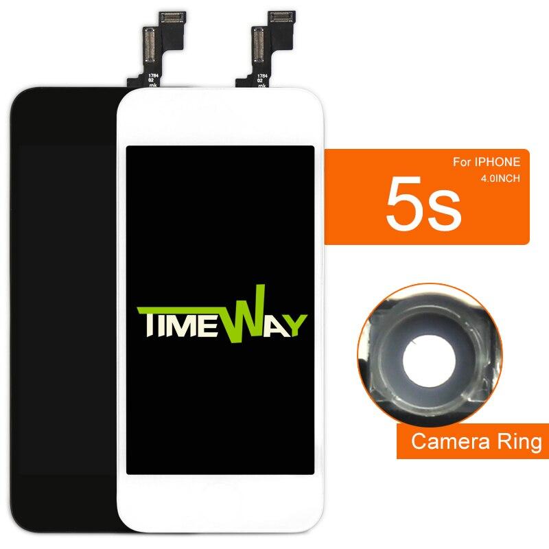 imágenes para AAA Para El teléfono 5S LCD de pantalla Digitalizador Asamblea con OEM Replacement Glass + soporte de La Cámara