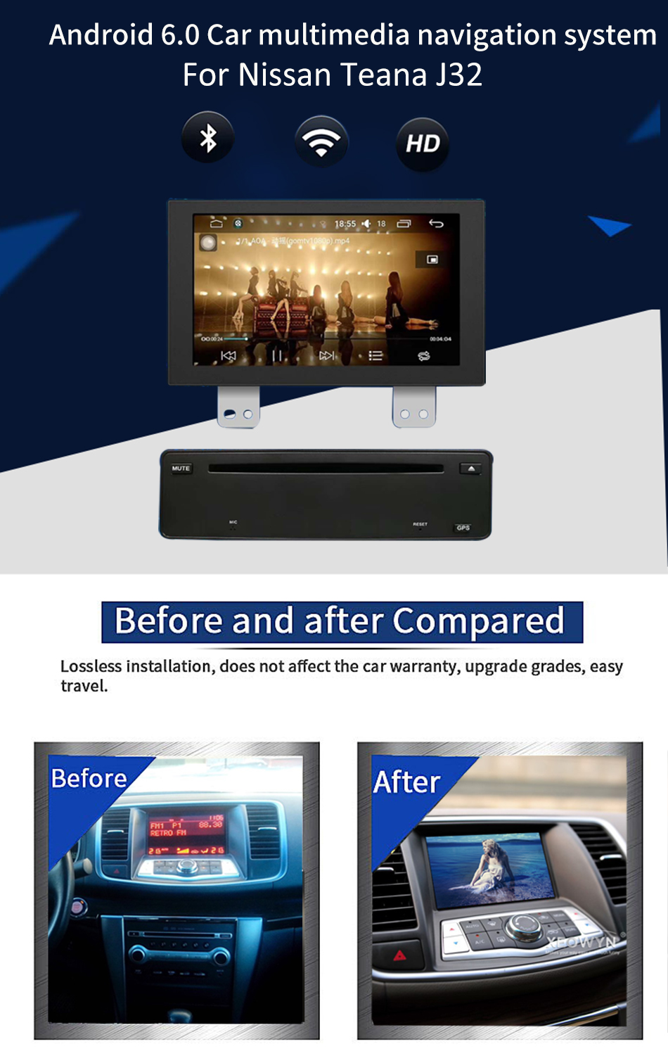Android 6 0 Car Dvd Player For nissan maxima A35 2009 2010 2011 2012 2013  2014 GPS Navigation Stereo BT AUX