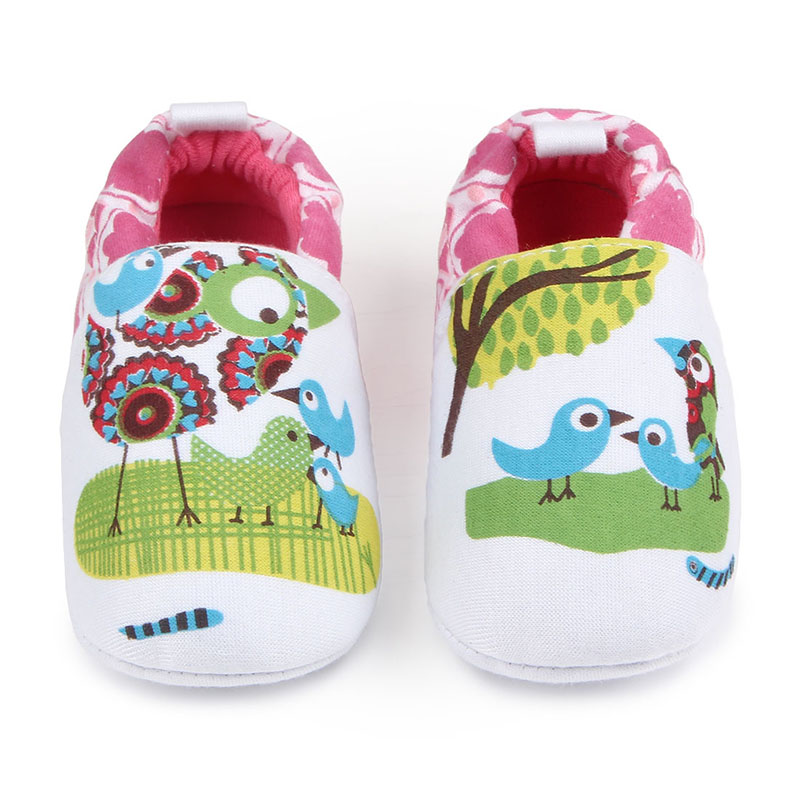 New Arrival Knitting Cute Birds Cotton Infant Toddler Baby Girl Boy Prewalk Shoes For 0-15 Months