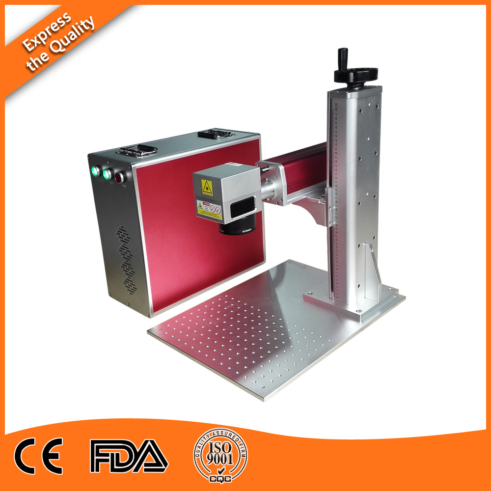 30W Desktop Fiber Laser Engraving Machine for Glass Filled Telfon; Metal Plated Ceramics of Standard Configuration