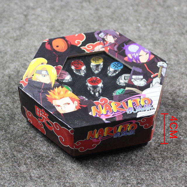 10Pcs NARUTO COSPLAY Member Ring