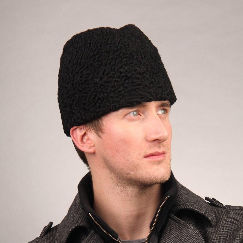 f6b3149dc4b Men s Persian Lamb Fur Skull Fedora Hat Black-in Fedoras from Apparel  Accessories on Aliexpress.com