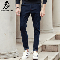 Pioneer Camp New Dark Blue Thick Jeans Men Brand Clothing Fashion Male Denim Pants Quality Autumn