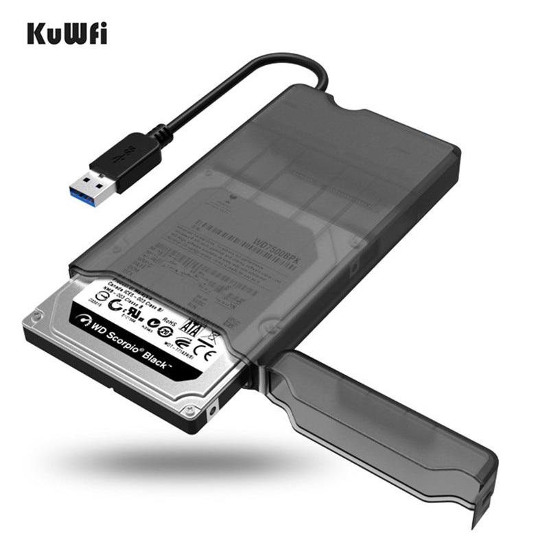 Nouvelle Arrivée 2.5 Pouce USB 3.0 SATA HDD Case Boîtier Externe boîte Mobile SSD HDD Avec Câble Pour 2.5 pouces Disque Dur Outil livraison