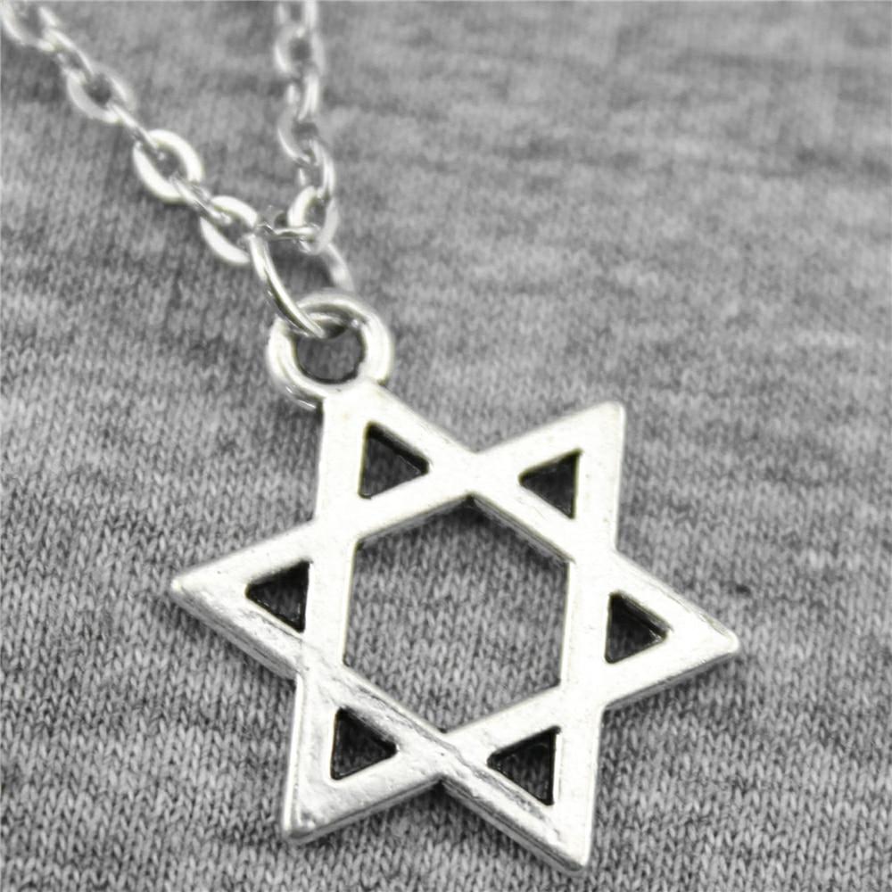 WYSIWYG 21 x 16 mm Davidster hanger ketting sieraden, handgemaakte ketting cadeau voor vrouwen dropship producten
