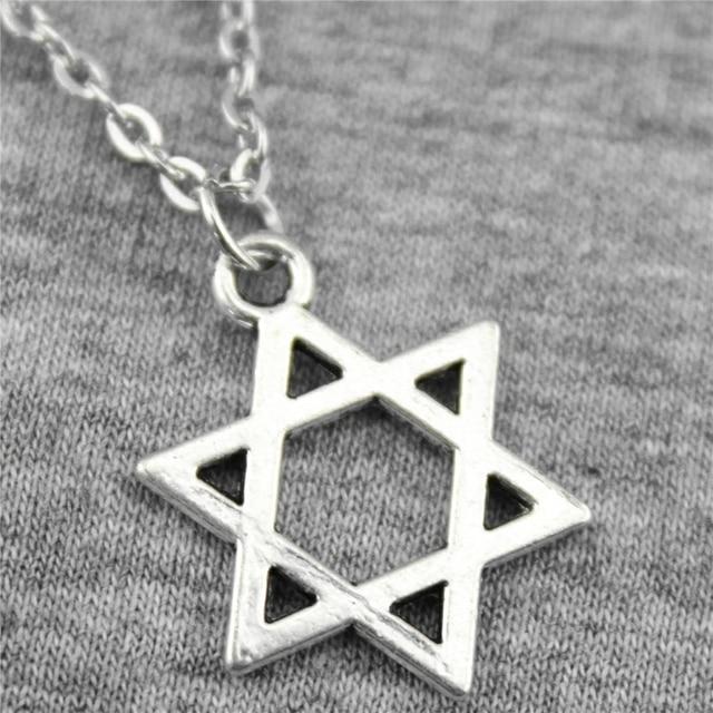 WYSIWYG 21x16mm Star Of David Pendant Necklace Jewelry, Handmade Necklace Gift F