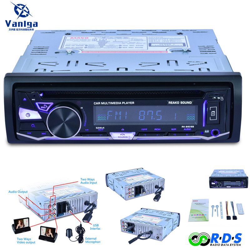 Autoradio lecteur DVD stéréo FM MP3 Audio 12 V Bluetooth 5v-chargeur USB SD MMC AUX RDS Auto électronique In-Dash 1DIN Autoradio