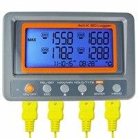 Настенный цифровой 4 канала 328 2498 градусов C/F K Тип термопары 2 ГБ SD карты температура термометр Logger