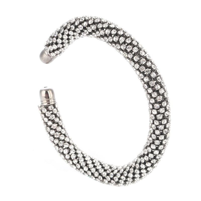 LOVBEAFAS Fashion Luxury Cuff Bracelets & Bangles For Women Crystal Rhinestone Vintage Bracelets Fine Jewelry Accessories 8