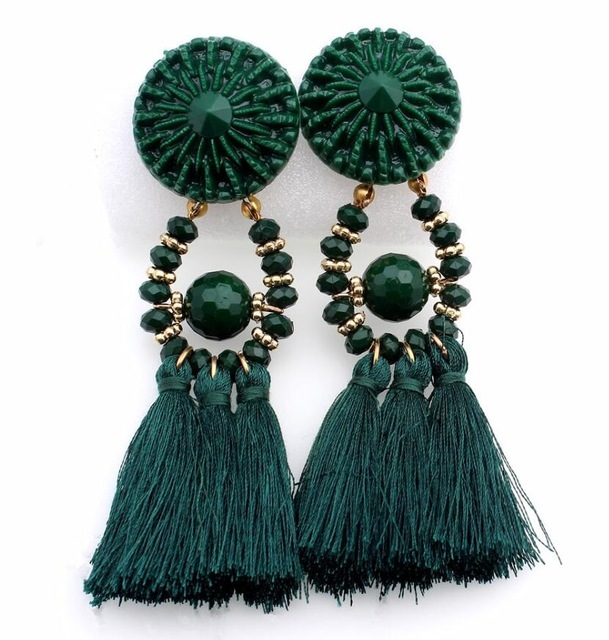 HOCOLE 2017 Brincos Women Brand Boho Drop Dangle Fringe Earring Vintage ethnic Statement Tassel earrings fashion jewelry Charms 3