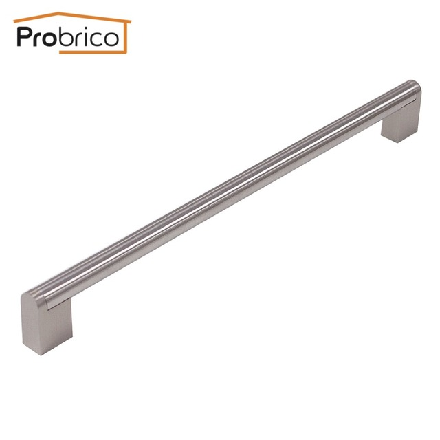 Probrico Wholesale 100 PCS Boss Bar Stainless Steel Hole To Hole 288mm Diameter 14mm Cabinet Knob Drawer Handle Pull PD214HSZ288