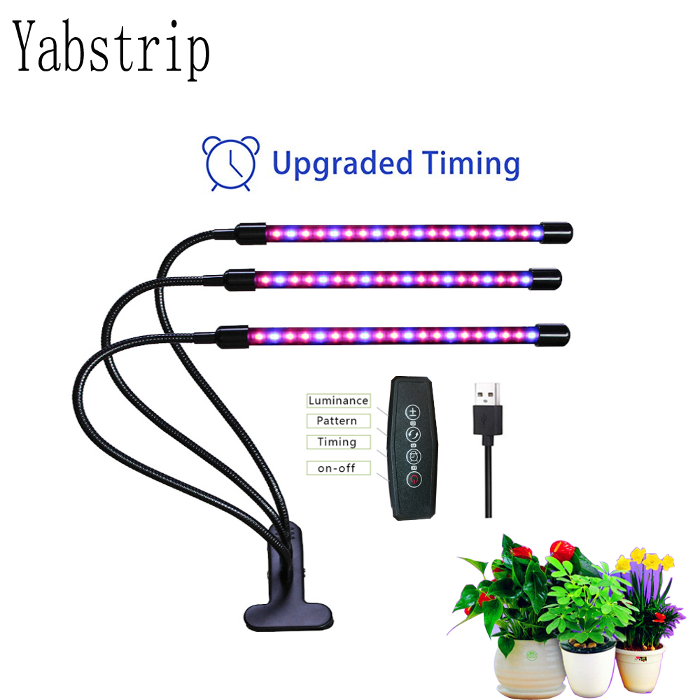 Yabstrip LED Grow Light 5V USB Led Plant Lamps Full Spectrum Phyto Lamp For Indoor Vegetable Flower Seedling Fitolampy