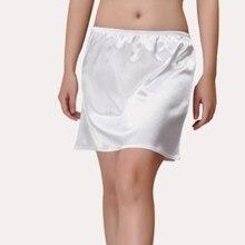 Womens Mini Half Slips Under Dress Black Pink Ivory White Safety Satin Underskirt Women Girl Plain Petticoat