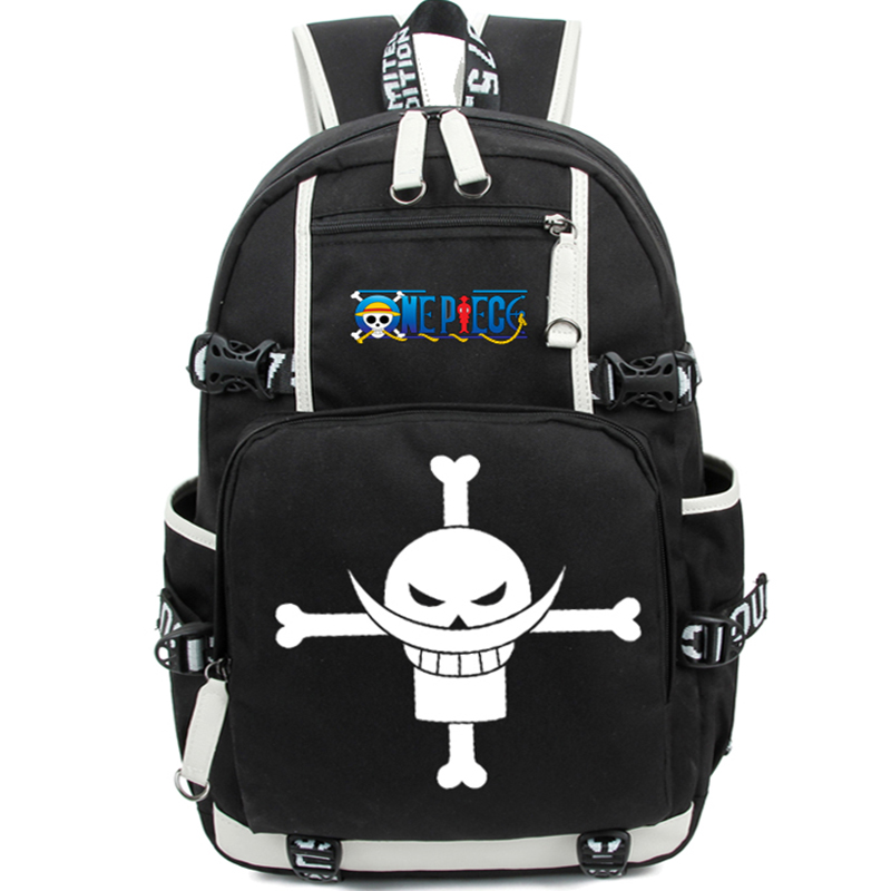 New Cartoon One Piece Shoulder Bag Teenager Backpack Skull Printing Rucksack Casual Schoolbags Bagpack Mochila EscolarNew Cartoon One Piece Shoulder Bag Teenager Backpack Skull Printing Rucksack Casual Schoolbags Bagpack Mochila Escolar