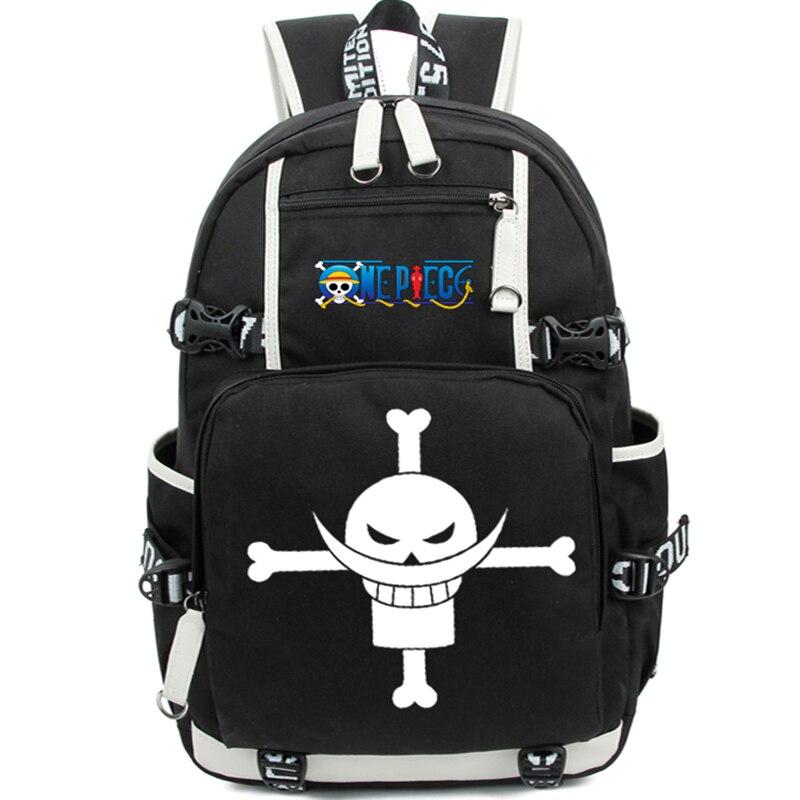 Nouveau Cartoon One Piece sac à bandoulière adolescent sac à dos crâne impression sac décontracté dos casual cartable sac à dos Mochila Escolar