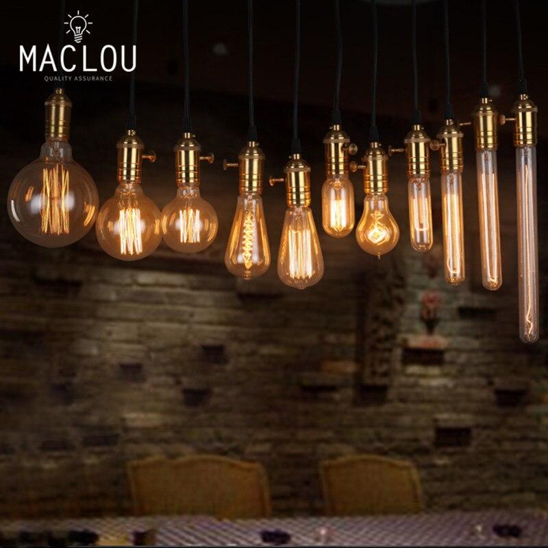 Vintage Edison Light Bulb 220V E27 40W ST64 Incandescent Bulbs Rope lamp Indoor Lighting ampoule Filament Luminaria Retro Bulb st64 squirrel cage filament bulb e27 incandescent light bulbs antique retro vintage edison light bulb home decor