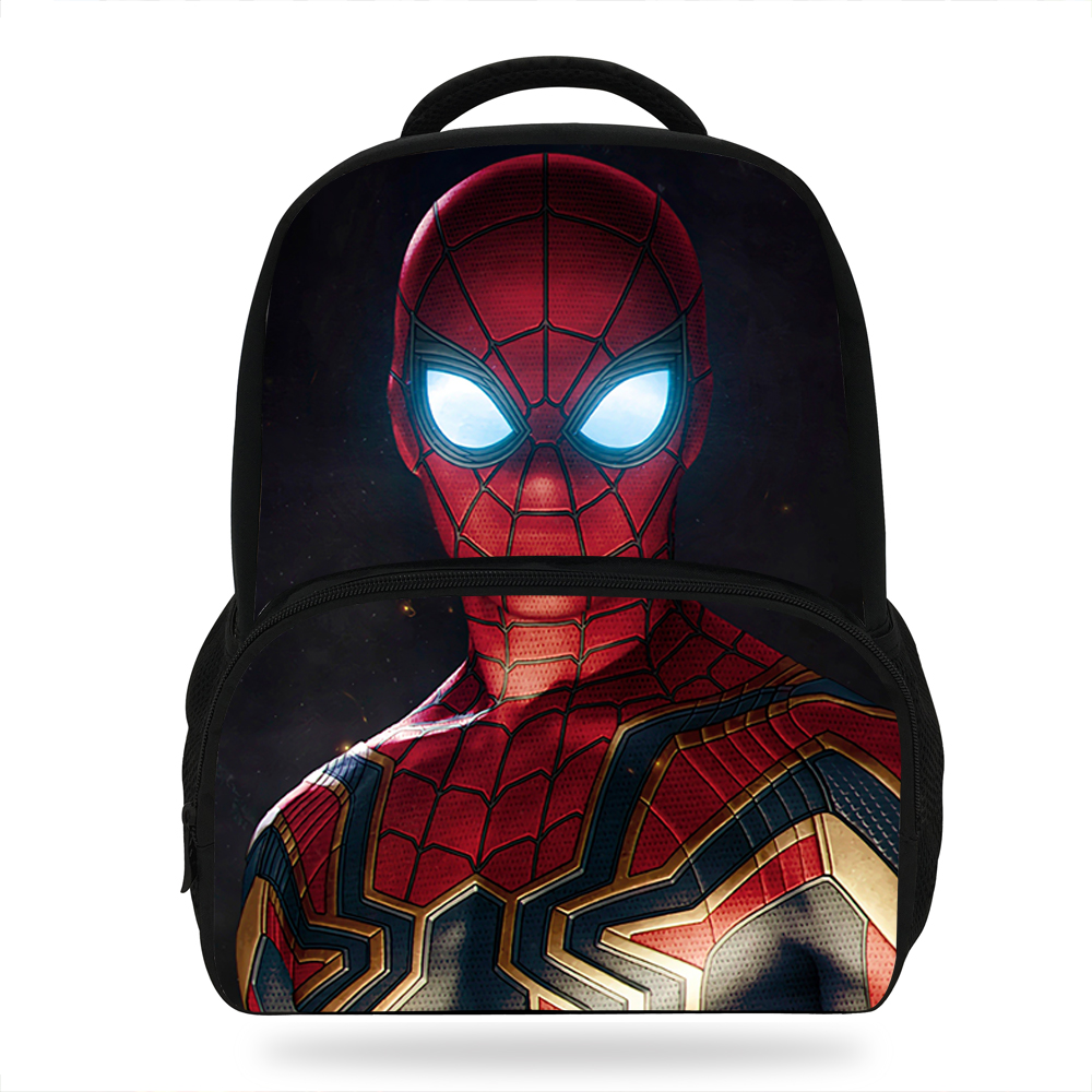 14Inch New Style Spiderman Backpack For Boys Girls School Book Bags Super  Hero Bag For Children c627d2a787437