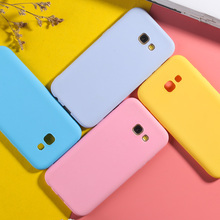 For Samsung Galaxy A5 2017 Case Candy Color Case For Samsung A50 A6 A7 A8 Plus 2018 A3 A5 A7 2017 Luxury Matte TPU Phone Cover все цены