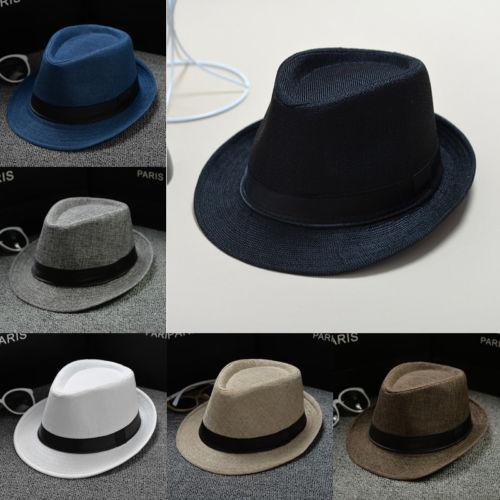dd7bdff67f77e8 New Classic Mens Women Straw Fedora Hat Wide Brim Panama Hat Summer Hat  Mens or Ladies