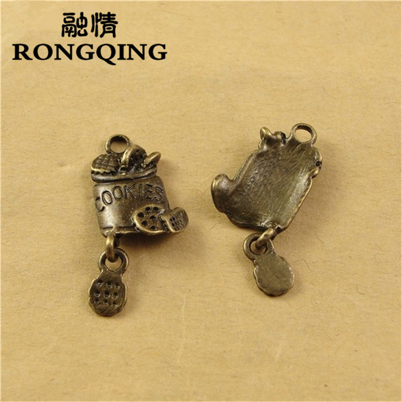 RONGQING 24*11MM 60pcs/lot barrel food Pendants Necklaces Handmade Fashion Jewelry Charms DIY